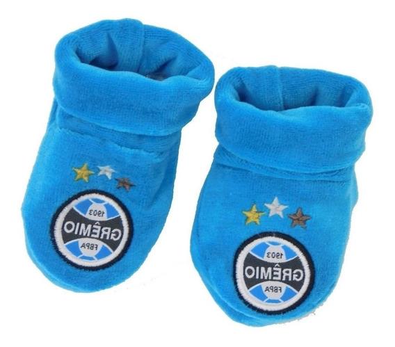 Sapatinho Gremio Para Bebe Azul Meia Gremio Para Bebe