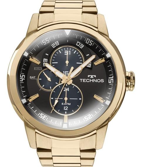 Relógio Technos Masculino Grandtech 6p57aa/4p Dourado