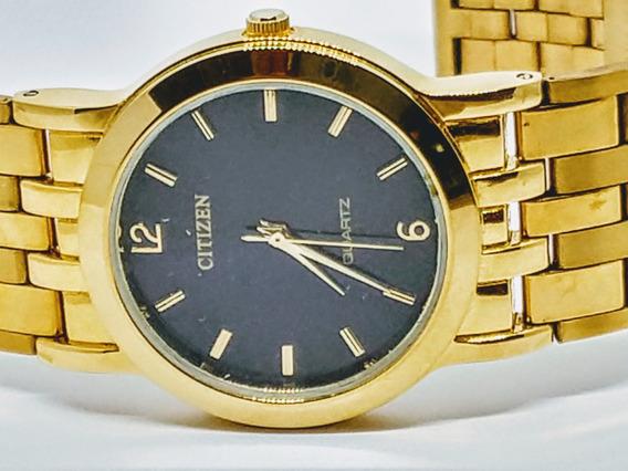 Relógio Citizen Dourado Unissex