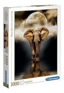 Elefante Noche De Luna Rompecabezas 1000 Piezas Clementoni