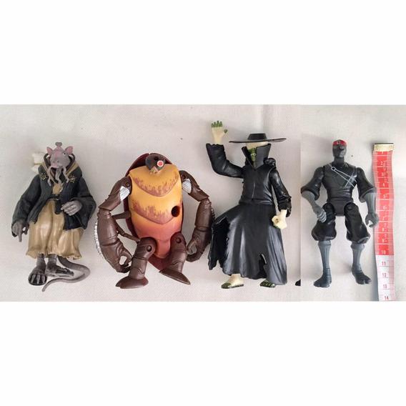 Kit Personagens Da Tartaruga Ninja - 4 Bonecos Com 13cm