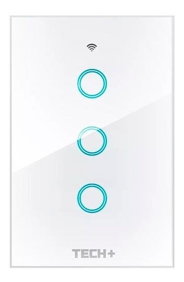 Interruptor De Luz Smart Wifi Táctil Con Cristal - 3 Gang
