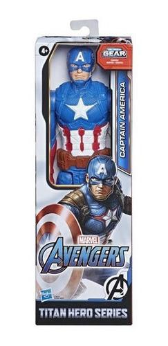 Action Figure Boneco Captain America Capitão 30cm Avengers
