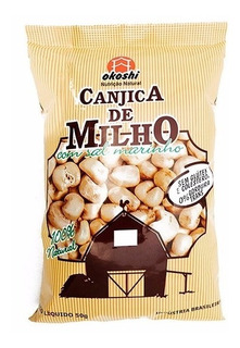 36 Canjica De Milho Integral Com Sal Marinho - 50g - Okoshi