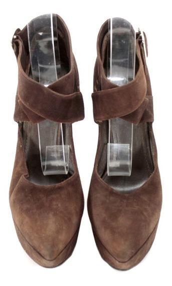 Zapatos Gamuza Café Yves Saint Laurent