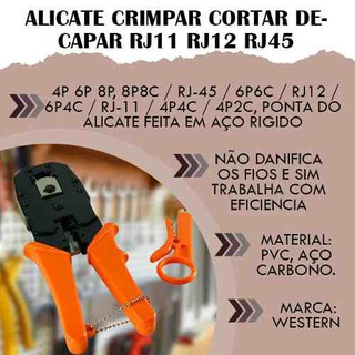 Alicate Crimpar Cortar Decapar Rj11 Rj12 Rj45 Ferramentas