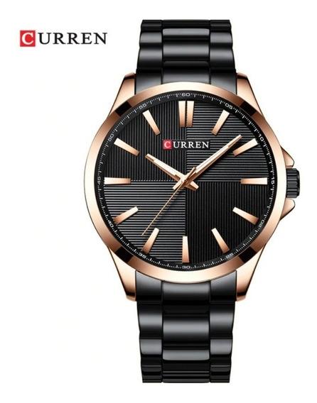 Relógio Curren Model 8322 Masculino De Pulso Aço Inoxidável