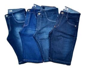 Kit C/ 3 Bermudas Jeans Masculina Promoção Pronta Entrega