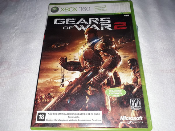 Gears Of War 2 100% Orignal E Completo Xbox 360 Fisica
