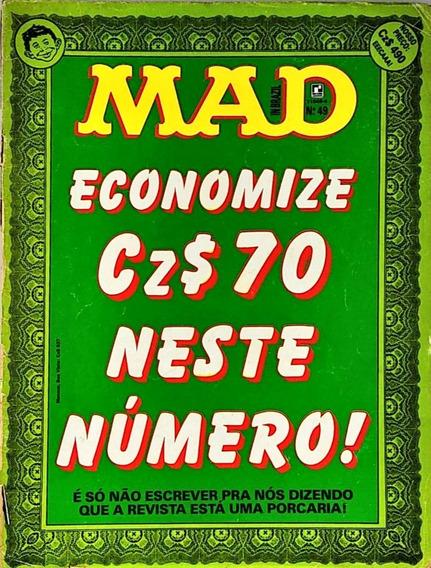 Revista Mad Nº 49 Economize Editora Record Janeiro De 1989