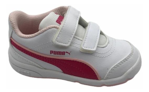 Tênis Puma Stepfleex Fs Sl (inf) Nº 23 Branco/rosa Original