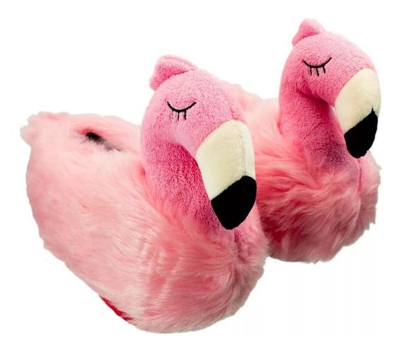 Pantufa 3d Flamingo Ricsen Sola De Borracha