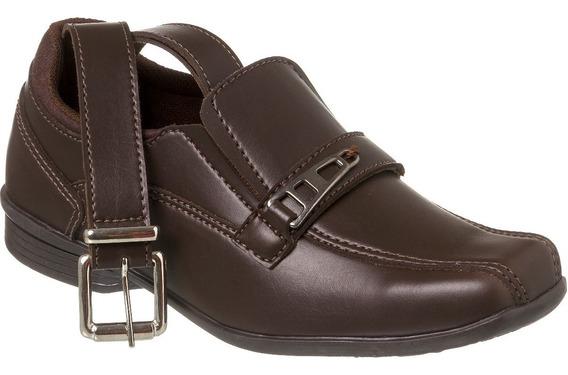 Sapato Social Com Cinto Infantil Menino Redmax A/b927-005