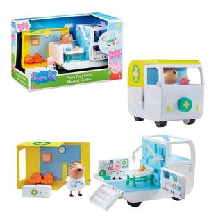 Peppa Pig - Ambulancia Movil - 2 Personajes - Original - !!!