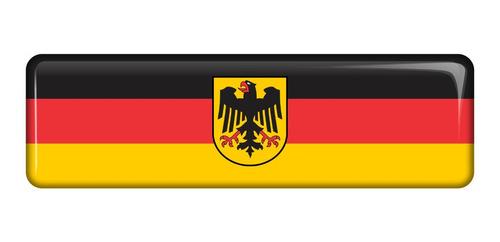 Emblema Adesivo Resinado Volkswagen Bandeira Alemanha Rs02