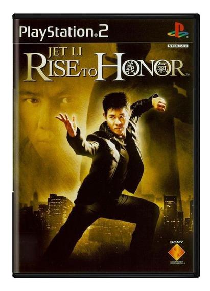 Jet Li Rise To Honor Ps2 Mídia Física Pronta Entrega