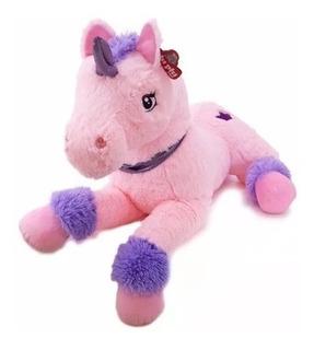 Peluche Unicornio Echado 85 Cm