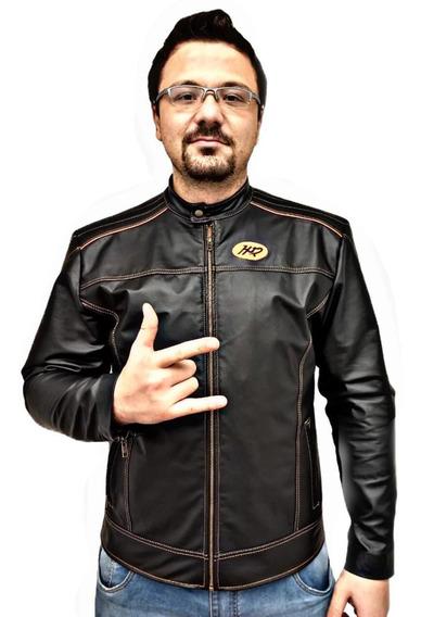 Jaqueta Masculina Couro Legitimo Harley Promoção