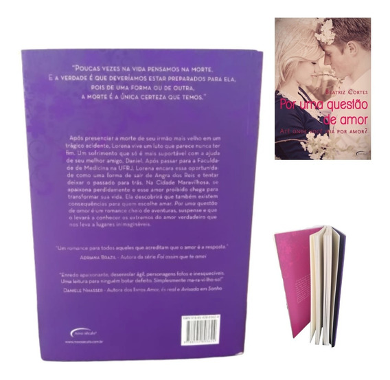 Por Uma Questão De Amor - Livro Em Ótimas Condições