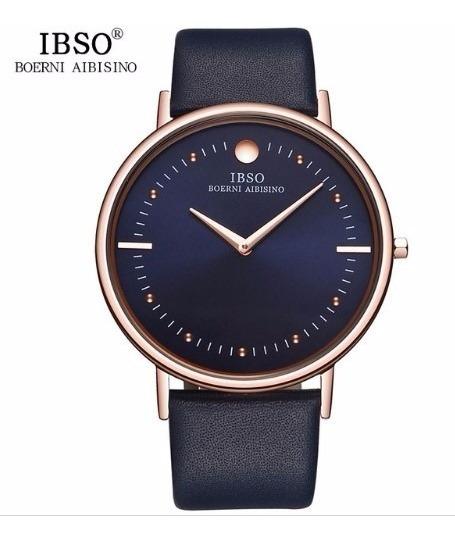 Relógio Masculino Ibso Pulseira De Couro + Frete Grátis