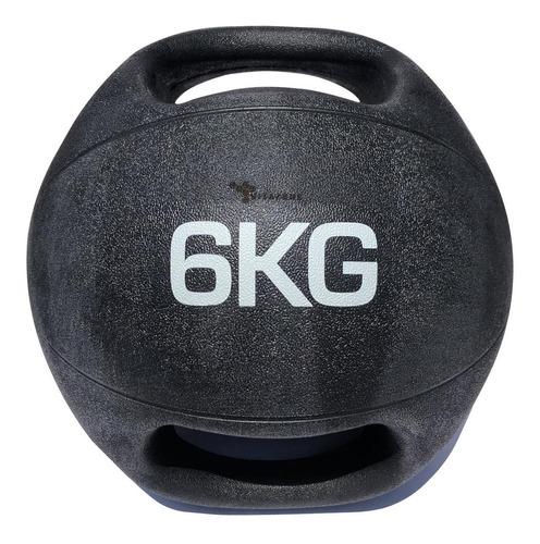 Imagen 1 de 3 de Pelota Balón Medicinal Con Asa Para Crossfit 6 Kg Profesiona