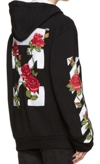 Sudadera Hoodie Off White Rosas Logo Clasico Todas Tallas Us