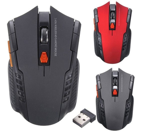 Mouse Game Sem Fio Óptico Wireless 2.4ghz Para Pc Notbook