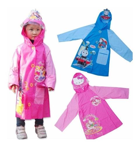 Capa Carpa Para La Lluvia Niños Pvc Capa Impermeable Disney