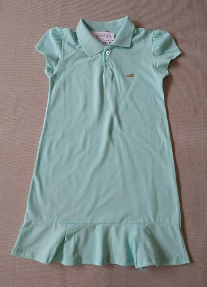 Vestido Menina Infantil Gola Polo 8 E 10 Anos