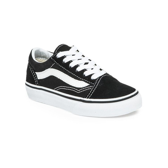 Zapatillas Vans Niño Old Skool Negro Blanco! Exclusivas Niño