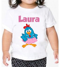 Camiseta Galinha Pintadinha Infantil Personalizada Festas
