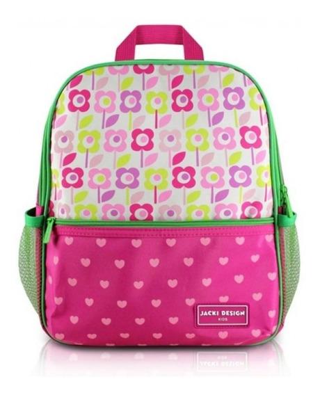 Mochila Escolar Infantil Rosa Jacki Design
