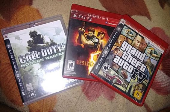 Ps3#call Of Duty 4 Modern Warfare#resident Evil 5#gta 4