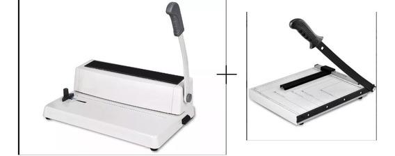 Anilladora Encuadernadora A4 + Guillotina Cizalla A4 + Pinza