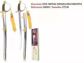 Espada Sabre Linda Peça Com Adorno Na Caixa 60cm