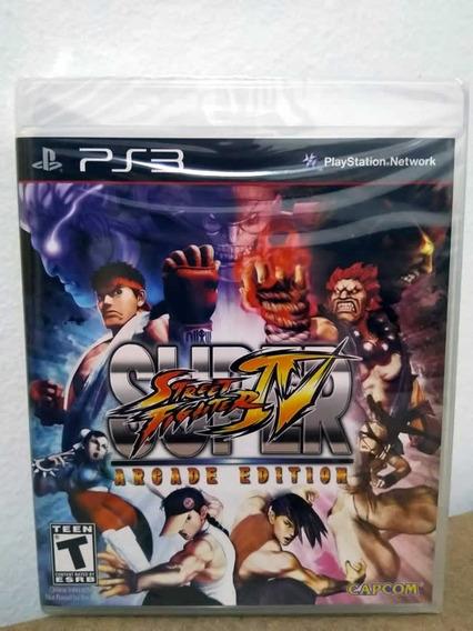 Ps3 Super Street Fighter 4! Mídia Física! Novo E Lacrado