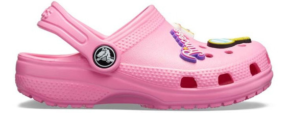 Zapato Crocs Infantil Classic Charm Clog Rosa