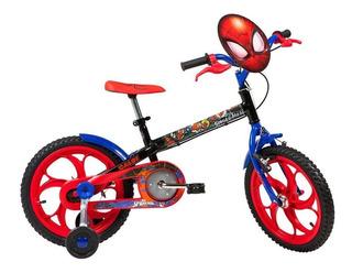 Bicicleta Infantil Caloi Aro 16 Spider Man Com Rodinhas