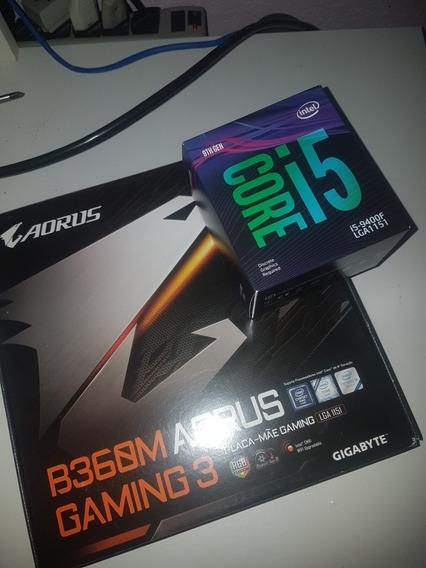 I5 9400f + Placa Mãe B360 Aorus + Monitor + Fonte + Coolers