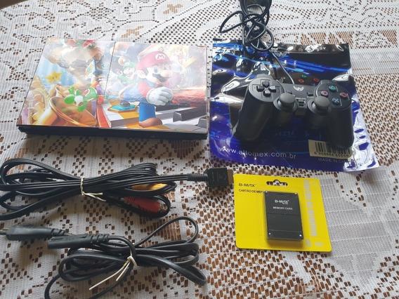 Playstation 2,5 Jogos,memory Card
