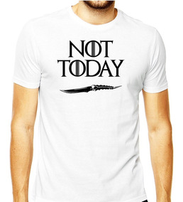 Camiseta Got Game Of Thrones Team Stark Not Today Arya Stark