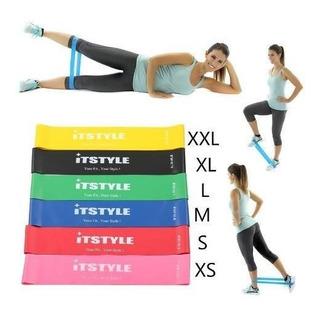 Set 6 Bandas Elasticas Ejercicio Entrenamiento Fitness