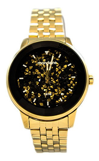 Relógio Mondaine Feminino Analógico Dourado 94713lpmvde2