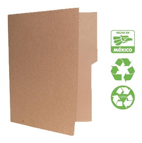 Folder Tamaño Carta Reciclado (paq. 100 Piezas) Ecológico