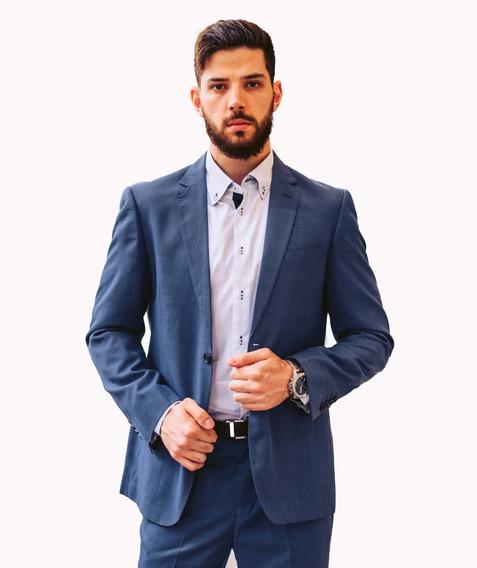 Terno Social Masculino Slim Fit Calça E Paletó Viscose