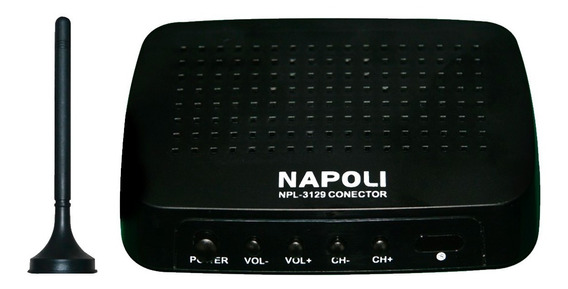Conversor Digital Para Tv E Dvd Automotivo Napoli Com Antena