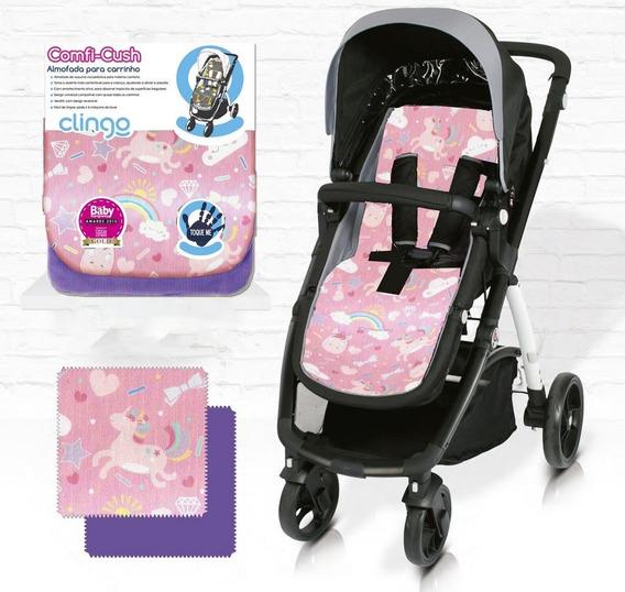 Almofada Para Carrinho De Bebê Comfi Cush Unicórnio Clingo