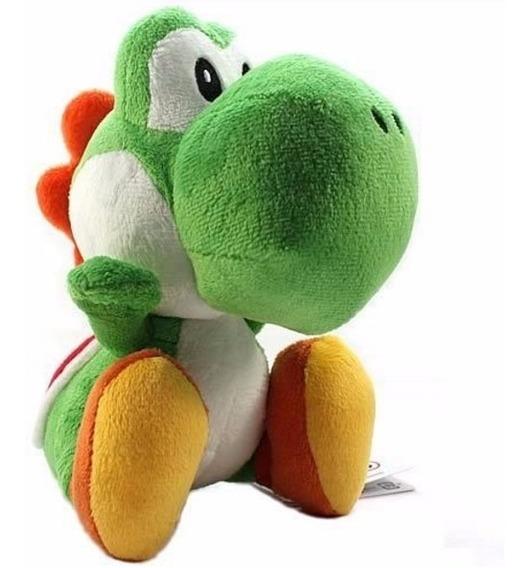 Pelúcia Yoshi Do Super Mario Bros Com 17cm Pronta Entrega $