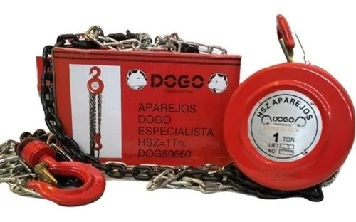 Imagen 1 de 8 de Aparejo Especialistahsz-1tn2.5mts Dogo Dog50660 1000kg