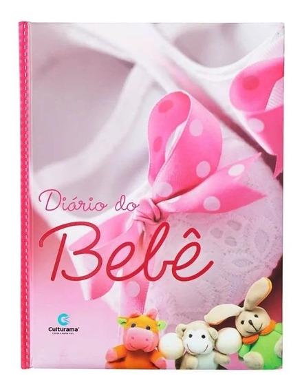 Diário Do Bebê Album Fotos Anotações Gestação Menina Rosa